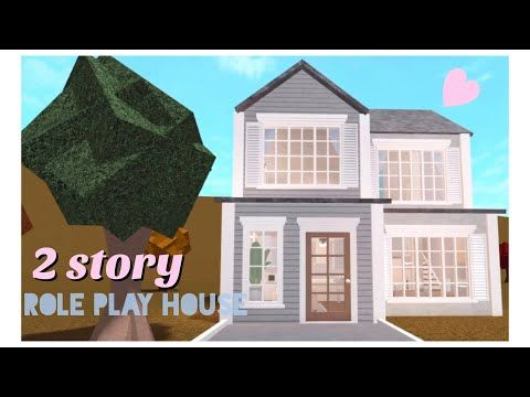 Two Story Bloxburg House 32k Youtube Build A House Game Cool House Designs Family House Plans
