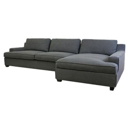 Low-profile sectional sofa with cotton-twill upholstery. Product: Sectional  sofaConstruction Material: Cotton-twill, wood and polyurethane foamColor:  ... - Pinterest • The World's Catalog Of Ideas
