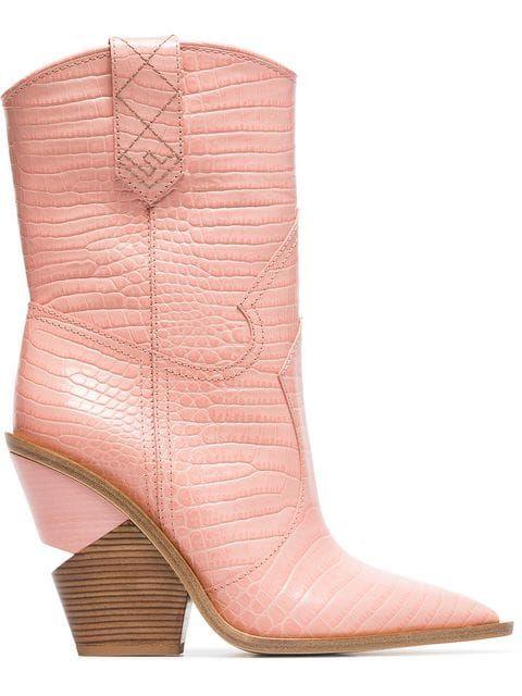 fendi boots pink