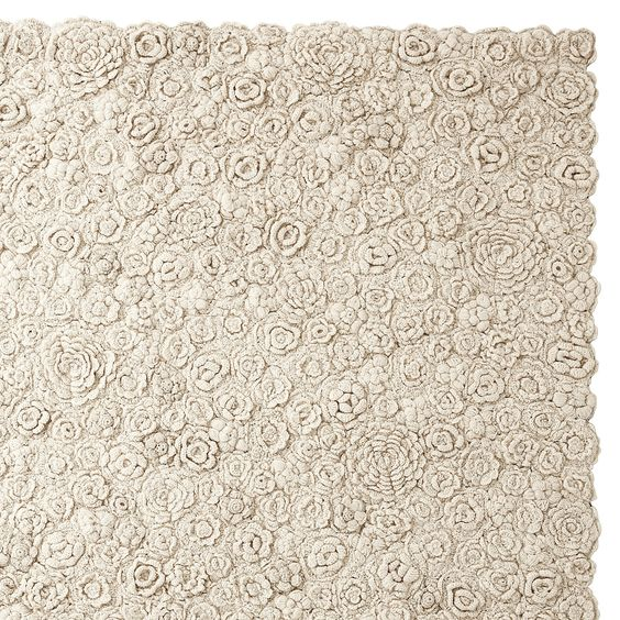 Natural Flora Crocheted Rug | Serena & Lily