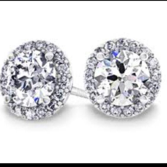 1 carat diamond earrings!