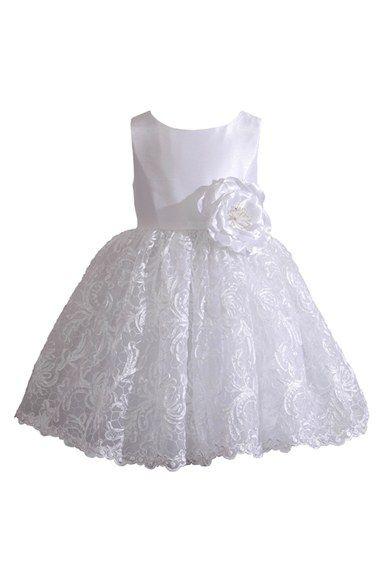 Infant Girl&39s Kleinfeld Pink &39Tara&39 Sleeveless Lace Dress ...