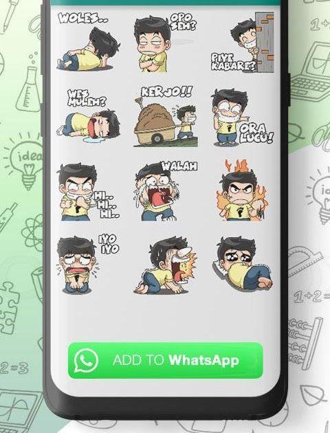 Gambar Lucu Download Stiker Wa Kocak Cara Menggunakan Stiker Untuk Whatsapp Selanjutnya Unduh Dan Buka Aplikasi Stiker Ini Cara Membua Gambar Lucu Lucu Gambar