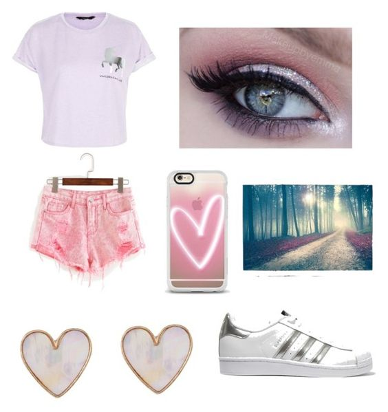 """""""✨Dancing on rainbows ✨"""" by ay0ava on Polyvore featuring New Look, Casetify and adidas Originals"""
