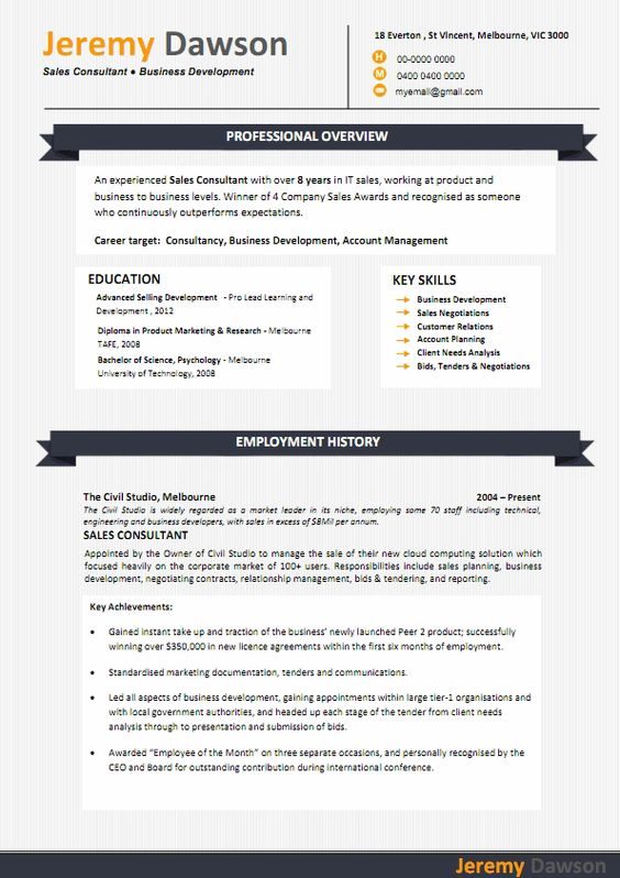 Pin by Fancy Resumes on Resume Templates Pinterest - it sales resume
