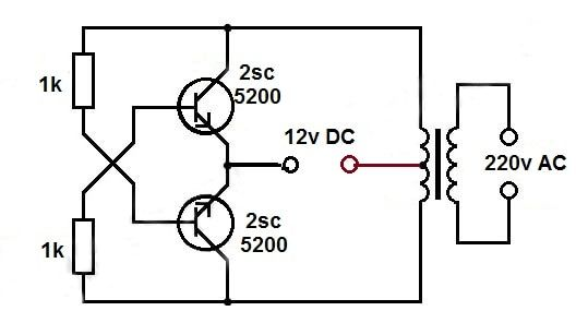 1 5v Dc To 220v Ac Converter In 2020 Electronic Circuit Projects Circuit Diagram Electrical Circuit Diagram