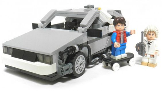Back to the Future Lego set!!!  I want this!!!  Flux capacitor not included, lol.