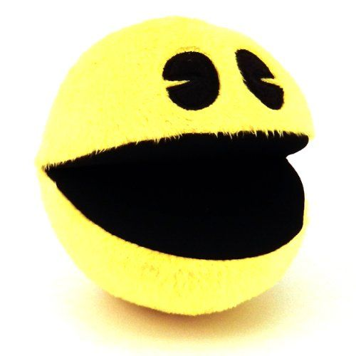Pac-Man Goldie Plush with Sound Small @ niftywarehouse.com #NiftyWarehouse #PacMan #VideoGames #Pac-man #Arcade #Classic