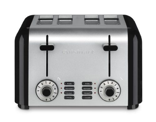 Cuisinart Cpt 340 Compact Stainless 4 Slice Toaster Brus Cuisinart Toaster Stainless Steel Toaster Toaster