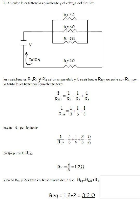 Circuitos Mixtos Ejercicios Circuitos Fisica Matematica Diagrama De Circuito