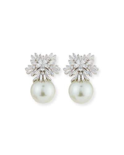 Y38GP Fallon Crystal Starburst Pearly Earrings