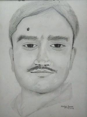 Artist akshay kumar drawing of kumar gautam bhagalpur