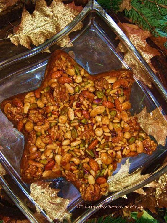 Tentações Sobre a Mesa: Bolo Estrela de Reis com Crosta de Frutos Secos