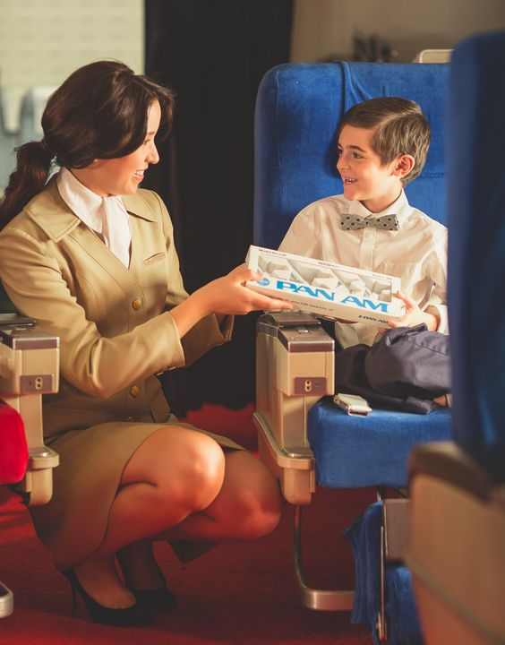 Michael Kelley recreated travel in the 1960s | click to see more photos of the recreated Pan Am flight