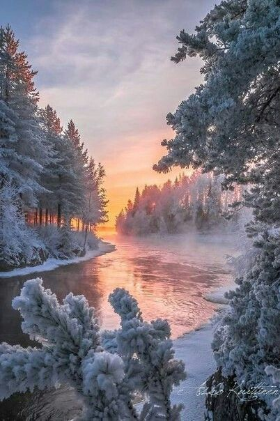 Beautiful winter river.