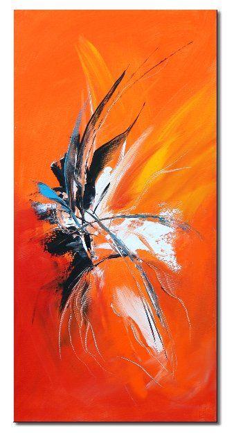 La passion painting 40x80 cm 2007 par isabelle zacher finet peinture h - Toile imprimee abstrait ...