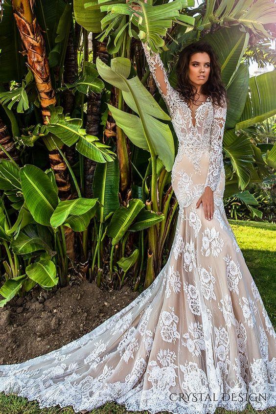 Кристален дизайн Haute Couture 2017 Сватбени рокли / http://www.deerpearlflowers.com/crystal-design-haute-couture-wedding-dresses-2017/6/