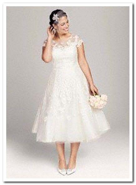 interesting vintage plus size tea length wedding dresses (2) by ...