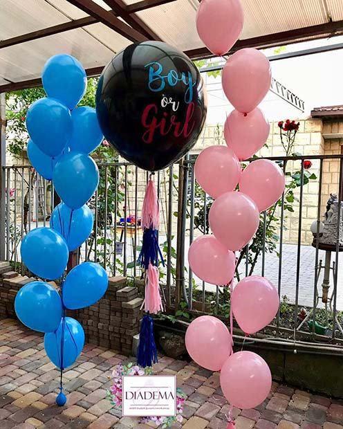 23 Adorable Gender Reveal Party Ideas Gender Reveal Balloons Babyshower Genderreve Gender Reveal Party Decorations Gender Reveal Balloons Baby Reveal Party