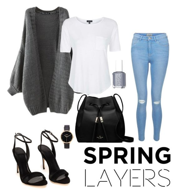 Untitled #8 by maariyah347 on Polyvore featuring polyvore, fashion, style, Topshop, New Look, Polo Ralph Lauren, Kate Spade, Nixon, Essie, clothing, cutecardigan and springlayers