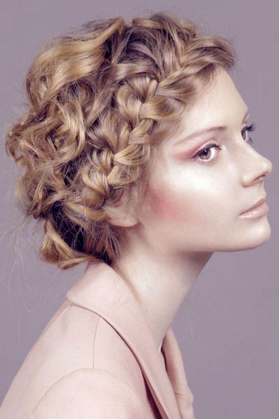 Groovy Braided Hairstyles For Short Curly Hair Short Hairstyles Ideas Hairstyle Inspiration Daily Dogsangcom