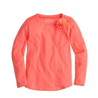 Girls' long-sleeve corsage tee