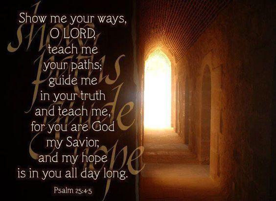 Psalm 25: 4-5