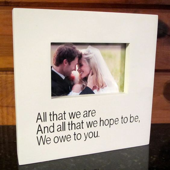 Wedding Gifts For Parents And Grandparents : Wedding Gift Picture Frame Thank you Gift for Parents Grandparents All ...