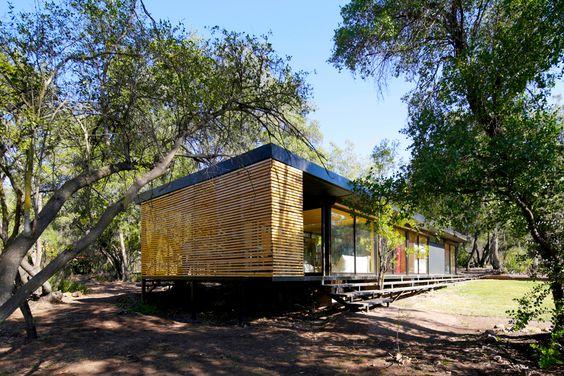 Casa Pirque - exterior perfil - 105m2