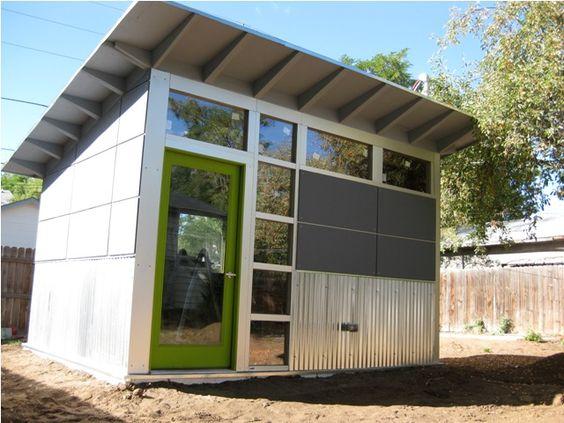 Studio shed modern shed and sheds on pinterest for Garden shed music studio