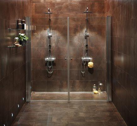 Simpele badkamer met inloopdouche voor 2 inrichting badkamer pinterest met - Badkamer inrichting ...
