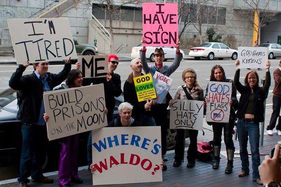 protestor sign parody - gotta do this!
