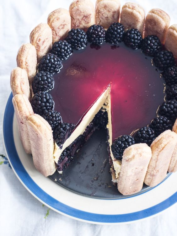 Blackberry and cinnamon Charlotte Russe by Sally Abé