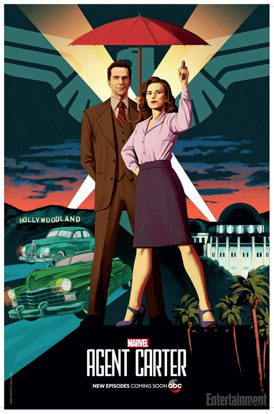 'Agent Carter' first look: Peggy lands in Hollywood in Comic-Con poster | EW.com. Jarvis is a regular for season 2!:
