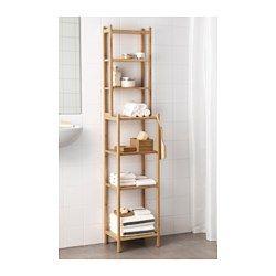 IKEA - RÅGRUND, Regal, , Ideal für ein kleines Badezimmer.Bambus ist ein strapazierfähiges Naturmaterial.