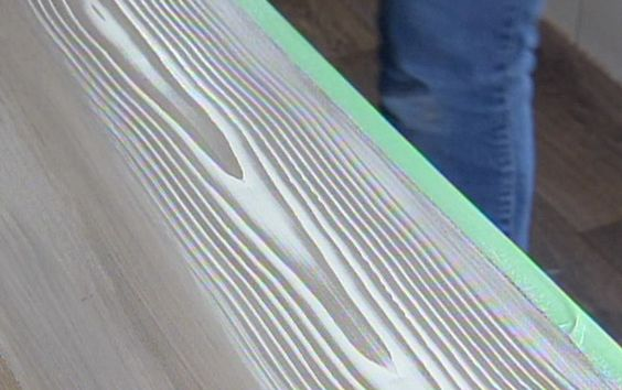 Un faux fini de bois de grange pour la table de salle - Technique peinture bois ...