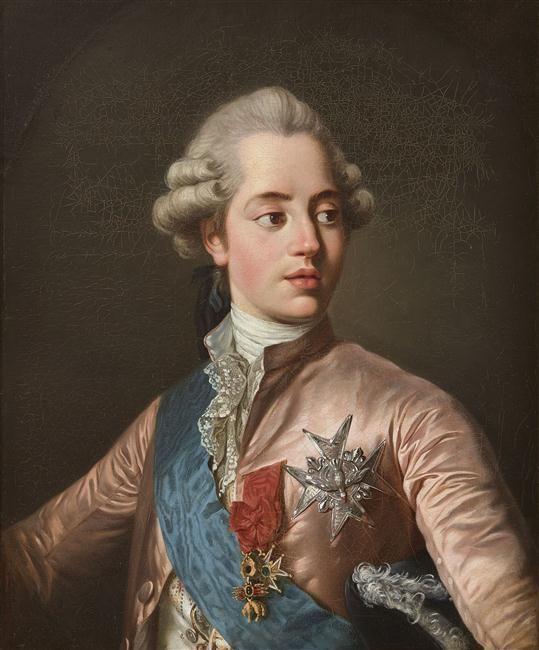 A portrait of Charles-Phillipe de France, comte d'Artois by Joseph Siffred Duplessis.