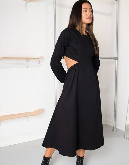 Daisy Street midi dress with cut out sides   ASOS