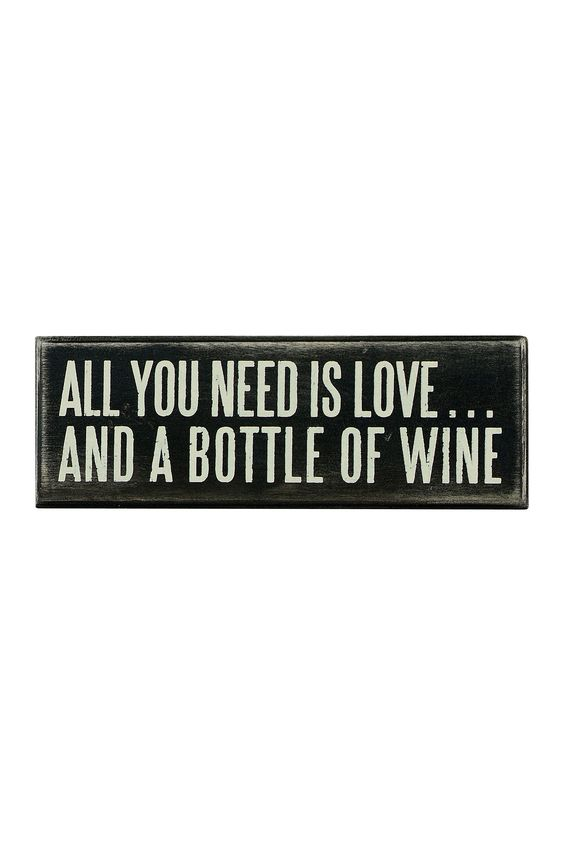 All You Need Wine Box Sign on @HauteLook