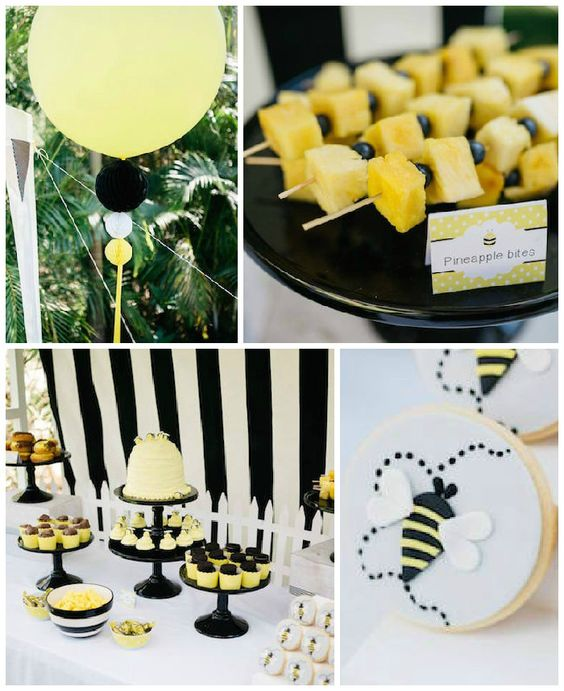 Bumble Bee themed birthday party via Kara's Party Ideas | The Place for ALL Things Party! KarasPartyIdeas.com #bumblebeeparty (2):