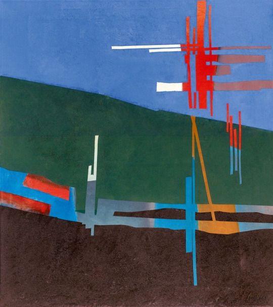 Fritz Winter (German, 1905-1976), Weiss von oben und Rot, 1969