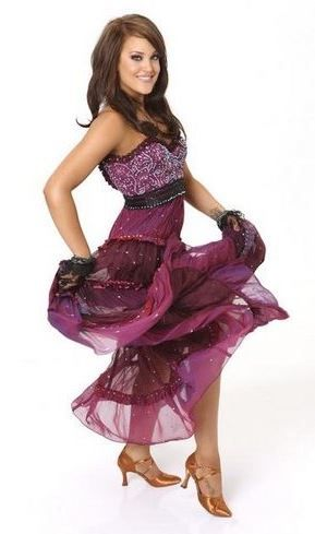 Lacey Schwimmer tiered dress on Dancing with the Stars