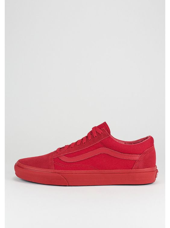 vans old skool mono true red/black