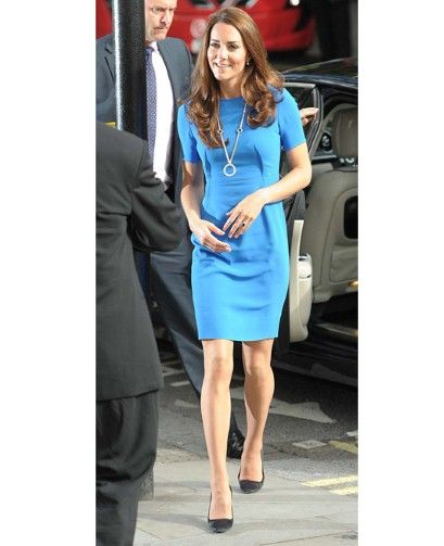 The Duchess of Cambridge arriving at the National Portrait Gallery wearing Stella McCartney. Photo: Geoff Pugh