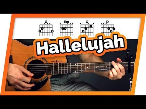 Hallelujah Jeff Buckley Guitar Tutorial Lesson For Beginners Youtube Guitar Chords Guitar Tutorial Learn Guitar