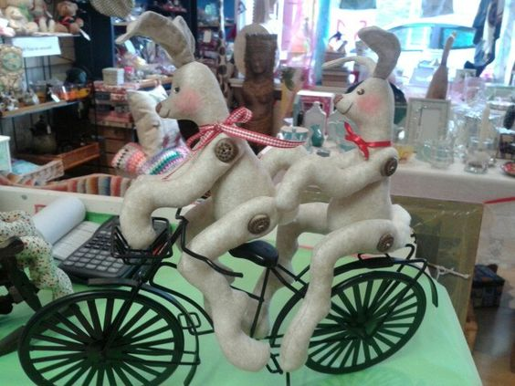 Handmade hares  £ 15 each  original design. Available from Emporium, Wisbech UK