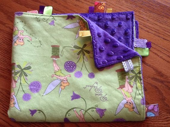 SALE Ribbon Blanket .... Pixie Perfect by BlanketsbySheryl on Etsy