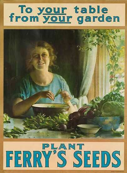 To your table from your garden.  Plant Ferry's Seeds.: