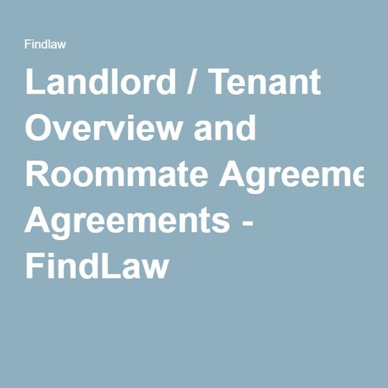 Landlord \ Tenant Overview and Roommate Agreements - FindLaw - apartment rental agreement template word