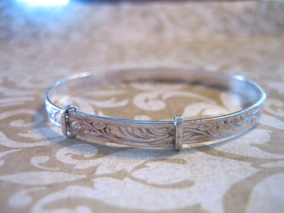 Victorian Sterling Silver Childs or Baby Bangle by charmingellie, $34.00